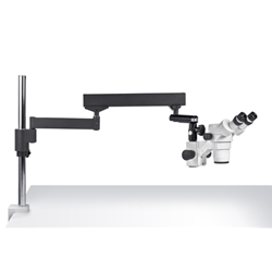 SMZ-168 Stereo Zoom Microscope, Articulated Arm Clamp Stand